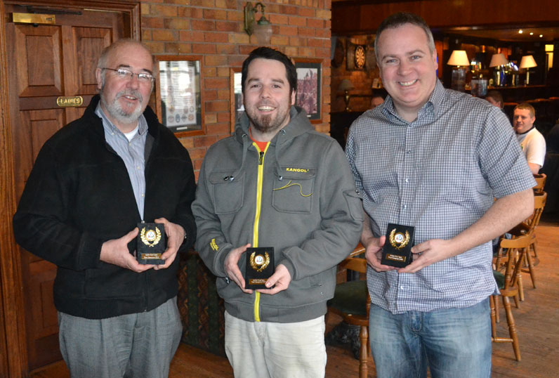 Bic Biros and Biscuits: Michael Connolly, John Nolan and Gary Stephens.