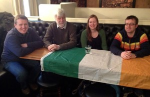 The Irish C Team, ready to quiz (l-r): Derek Cray, John O'Sullivan, Michelle Coyne and Ger Slattery.