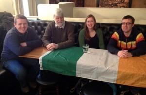 The Irish C Team, ready to quiz (l-r): Derek Cray, John O'Sullivan, Michelle Coyne and Ger Slattery.