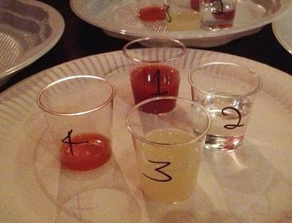 The liquid taster round