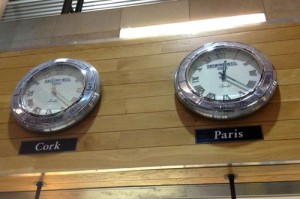 If it's tomorrow in Paris, what time is it in Cork?