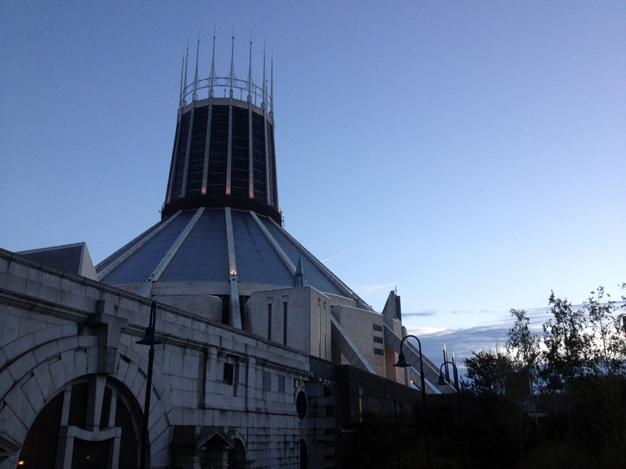 Liverpool Metropolitan Cathedral, under which we spent most of our weekend.